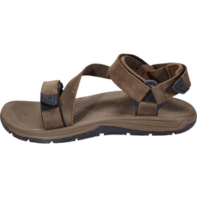 Columbia Big Water Leather Sandals Herren tobacco/super sonic